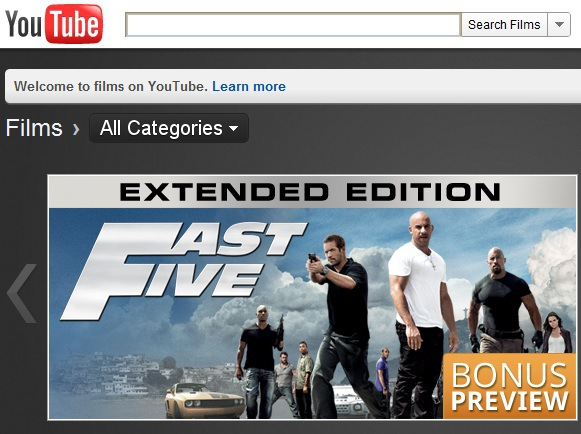 YouTube Rental Service Launches in the UK & Challenges LoveFilm