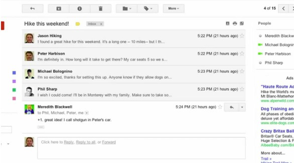 gmail update look and features