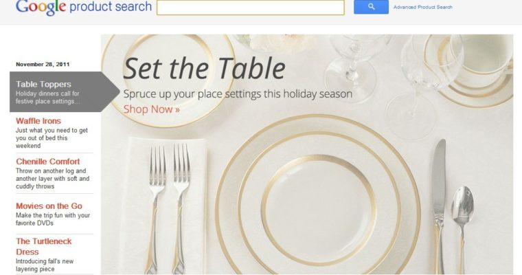 Cyber Monday: Holiday Shopping Using the Updated Google Product Search Features