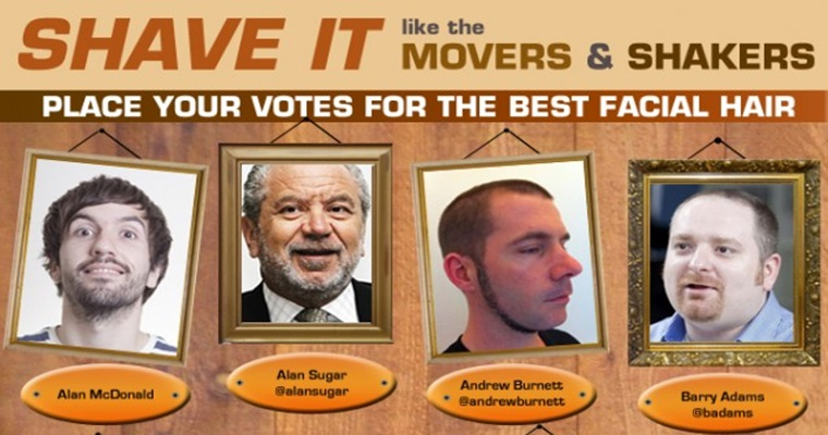 Vote For Your Favorite Marketer w/Facial Hair  [INFOGRAPHIC]
