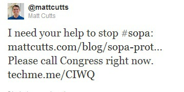 matt cutts opposes sopa