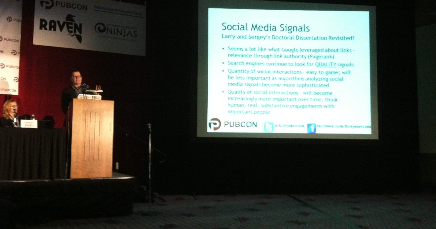 PubCon: Kristopher Jones on Increasing Klout Score and Social Presence