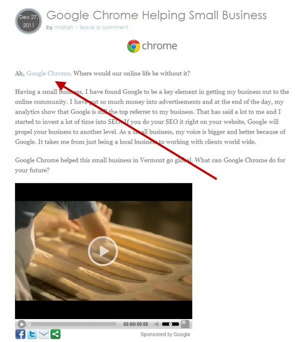 google chrome buying links