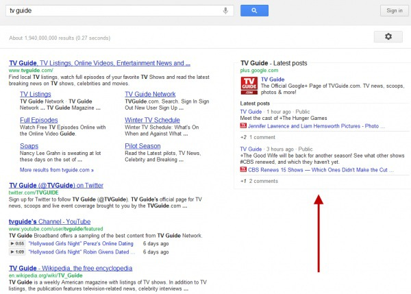 google plus content replaces ads
