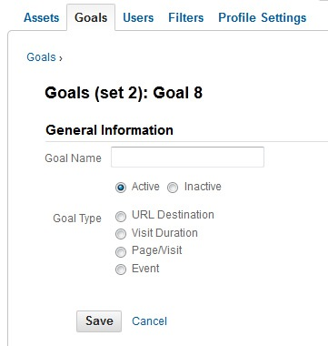 Conversion Goal Types in Google Analytics