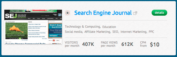 SearchEngineJournal.com Direct Advertising