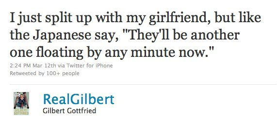 Gilbert Gottfried Tsunami Tweets