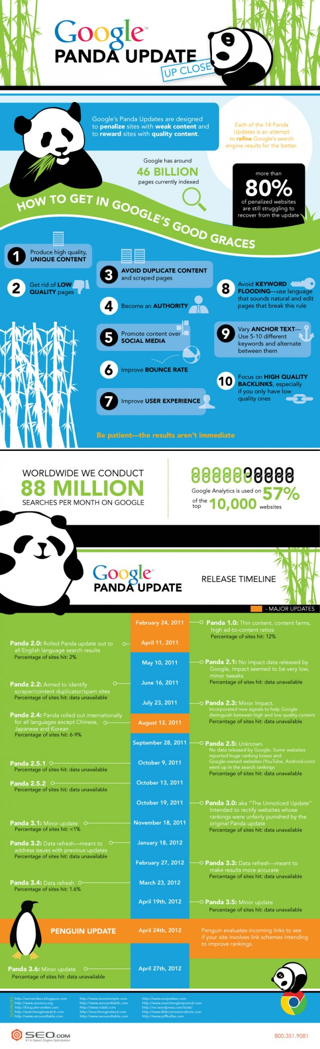 Google Panda Update Tips and Timeline [Infographic]