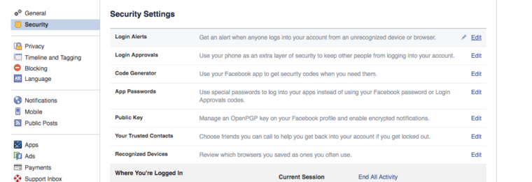 how to see if someone is hacking your Facebook account