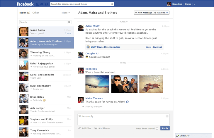 Facebook Messages Testing Recent Design Overhaul