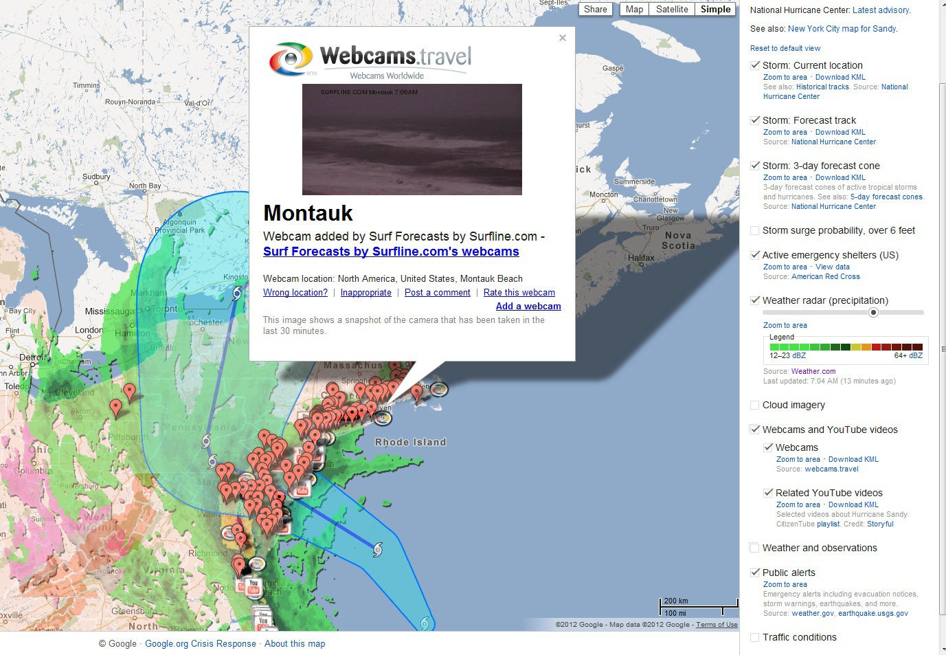 Google Puts Hurricane Sandy on the Crisis Map: Helping the Eastern Seaboard Through Frankenstorm
