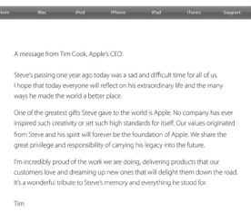 Remembering Steve Jobs One Year Later