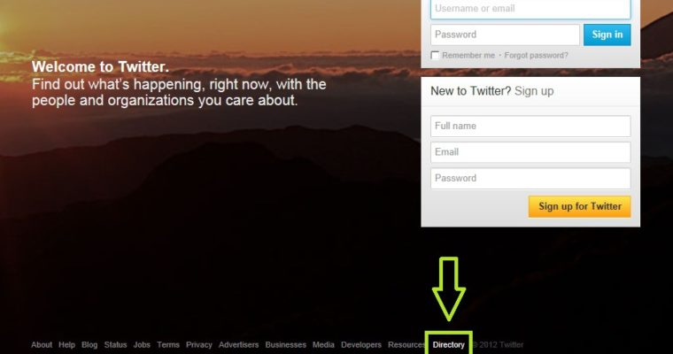 Twitter Launches User Directory
