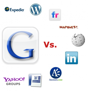 google content publisher fighting vs expedia wordpress flickr mapquest wikipedia linkedin answers.com microsoft word and yahoo groups
