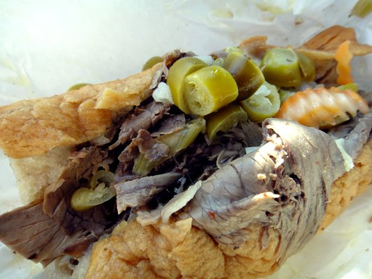 Italian Beef from Johnnie's Beef