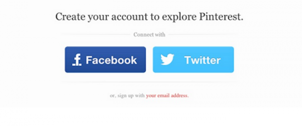 Pinterest easy signup.