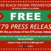 Black Friday Daily Deal: Online PR Media Buy 2 Get 1 Free Sale