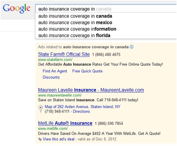 Google Instant impression loss