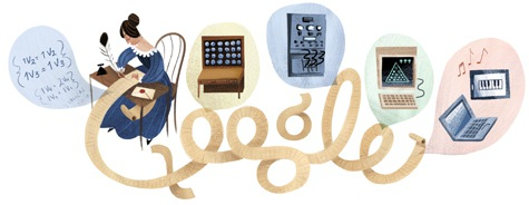 Google doodle celebrates 197th Ada Lovelace birthday.