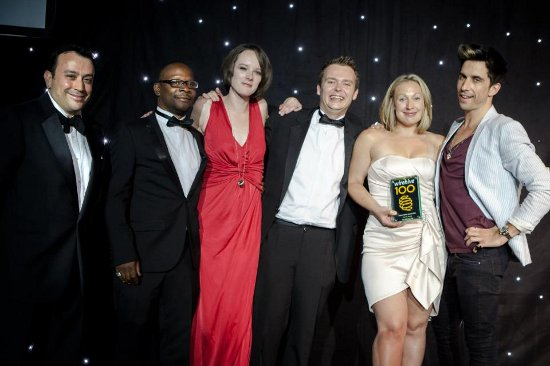 Peter Handley & the team at theMediaFlow taking an award