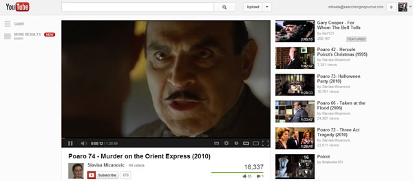 Poirot on YouTube