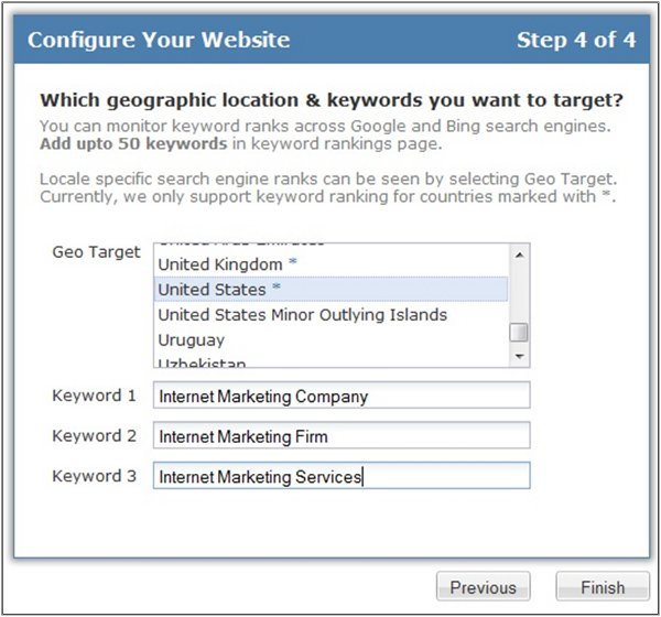 Configure website