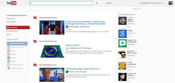 YouTube redesigned