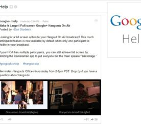 Google Hangouts On Air Now Full Screen