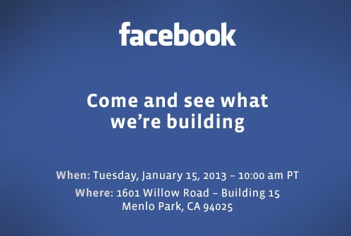 Speculation Abounds in Advance of Facebook Press Event