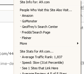 Amazon Offers a9 Toolbar for Firefox Browser