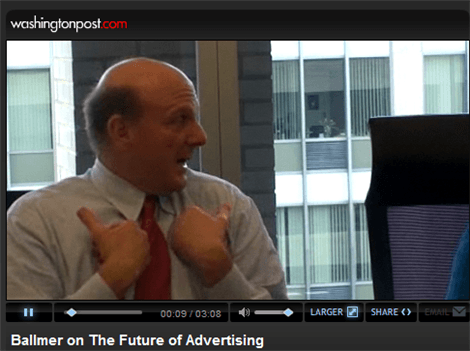 Steve Ballmer Talks Microsoft & Yahoo with WashingtonPost