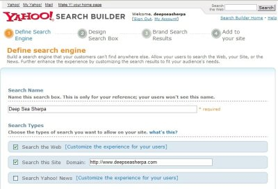 Yahoo Search Builder Adds New Sizes and Featured Sites