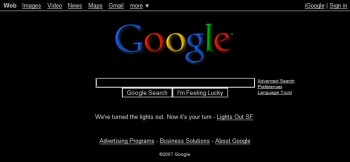 Google Runs Black Homepage For a Day