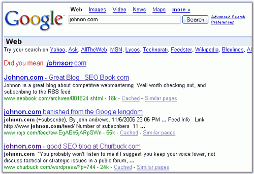 Favorite SEO Blog : Missing in Search
