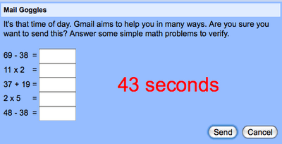 GMail Mail Goggles : Prevent Sending Drunk Emails