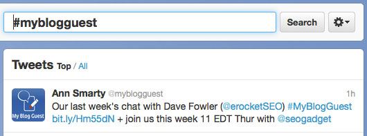 Come Chat On Twitter With #MyBlogGuest!