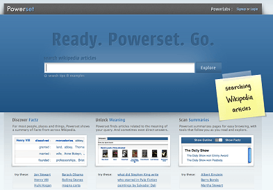 Powerset Launches : A New Dimension in Web Wikipedia Search
