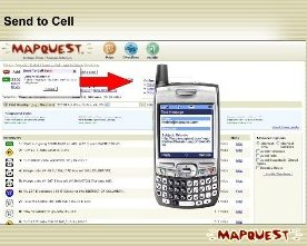 MapQuest : Send Maps to Cell Phone
