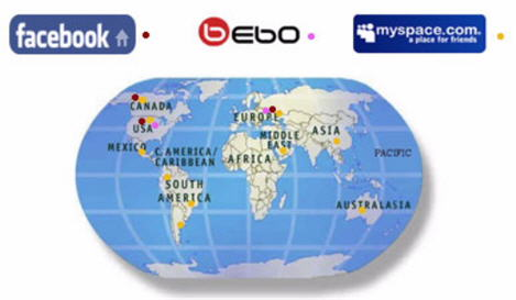 Social Networks Growing Globally Along with Search Engines