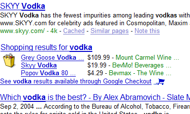 Google Serving Vodka in Search Results Despite AdWords Ban on Liquor