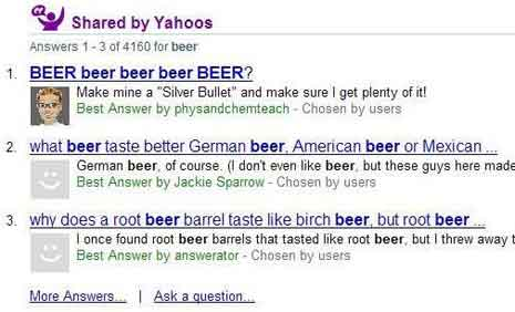 Yahoo Answers Gets a Search Result Makeover