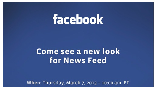 Facebook News Feed Invite