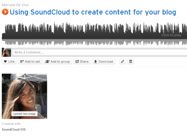 using SoundCloud