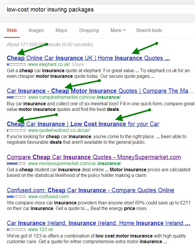 Search Engines for Car Insurance - Car Insurance Comparison