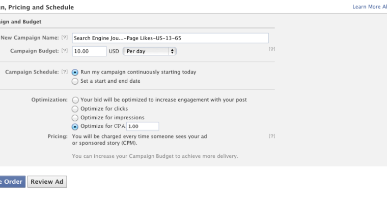 Facebook Launches CPA Bidding
