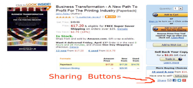 amazon sharing buttons