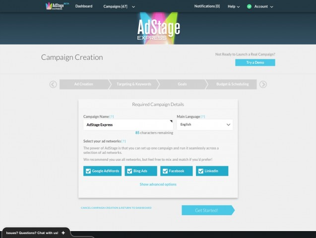 Adstage campaign-creation