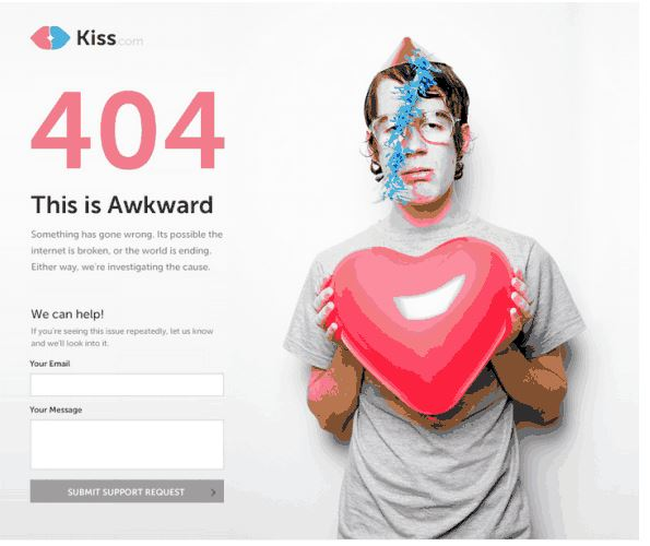 kiss 404 page