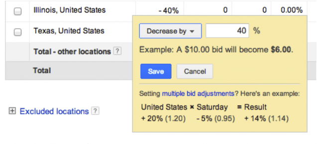 4- Decrease with AdWords Location Bid Adjustments - White Shark Media