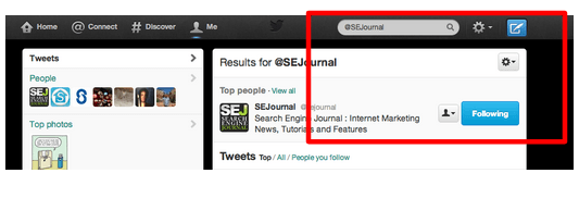 Twitter search tool